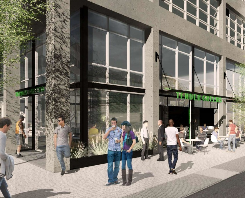 IDEA1 Commercial Street View IDEA1 - IDEA1 Rendering - I.D.E.A. District - Live Work Play