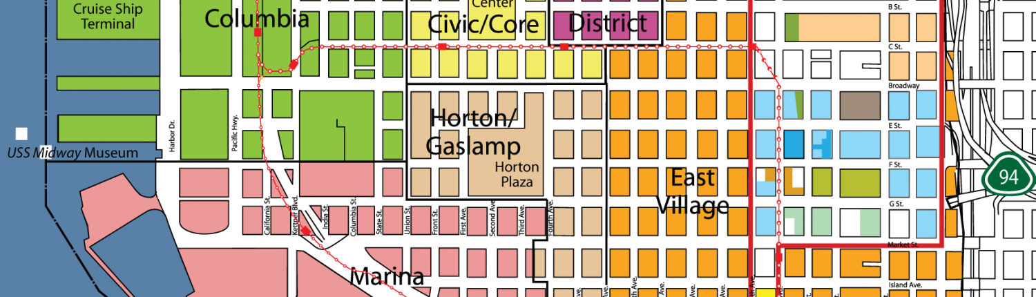 IDEA District - District and Site Map for IDEA1 - Live Work Play San Diego
