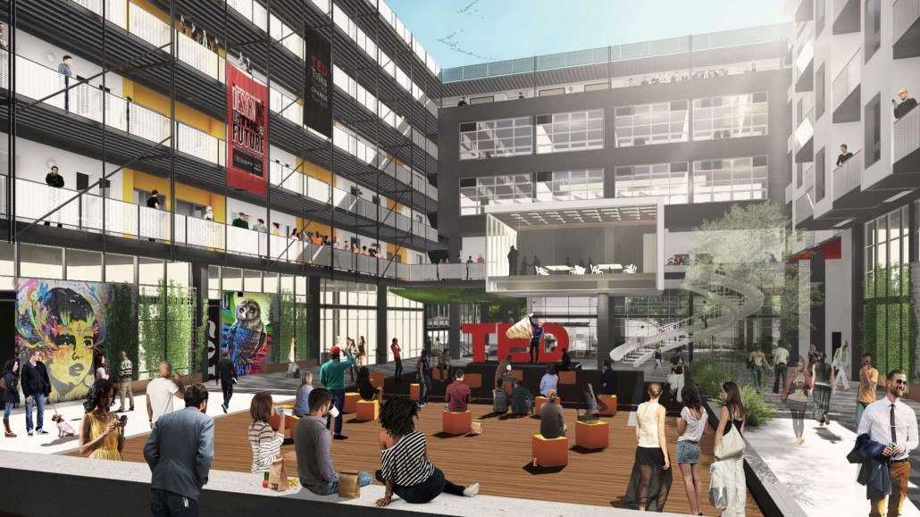 Ted Talk - The Hub at IDEA1 - IDEA1 Rendering - I.D.E.A. District - Live Work Play