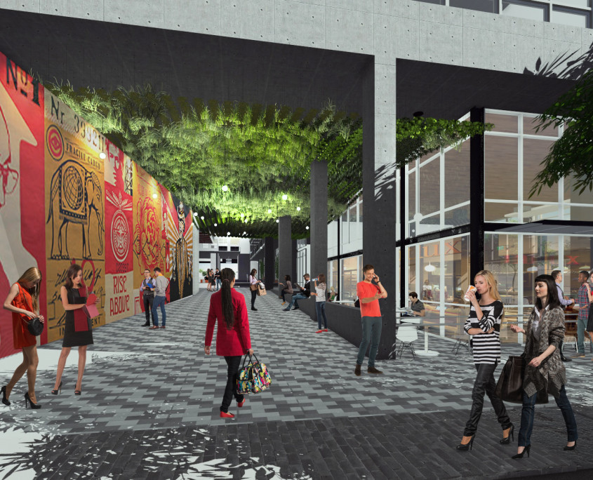 Entry - IDEA1 Rendering - I.D.E.A. District - Live Work Play