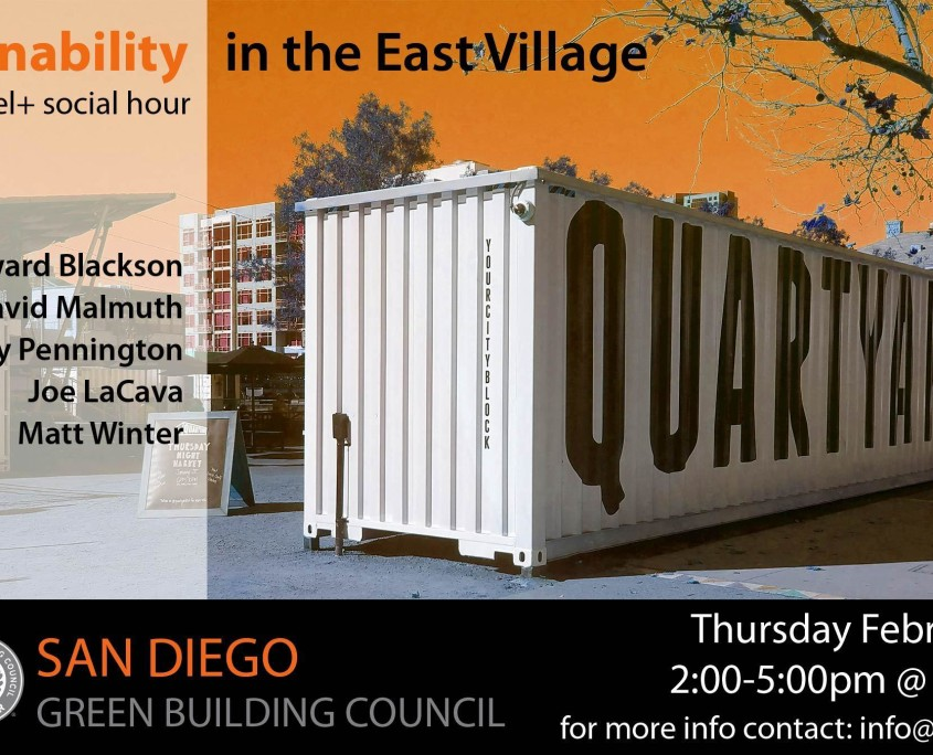 Sustainability in the East Village - San Diego Green Building Council