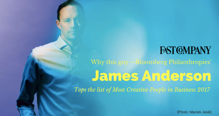 Why Bloomberg Philanthropies' James Anderson Tops Our List Of The Most Creative People In Business 2017 - Fast Company Article Featured on the IDEA District - San Diego Live Work Create - Innovative tech hub - Photo by Maciek Jasik